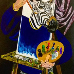 illusion peinture le zèbre