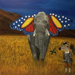 le chasseur de papillons peinture le zèbre