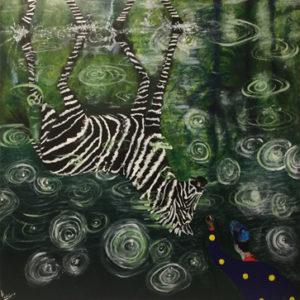 le reflet peinture le zèbre