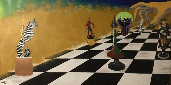 l'emprise peinture le zebre